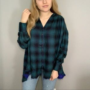 BRAND NEW WT Free People WeTheFree Plaid Tunic Top